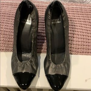 Stuart Weitzman black and silver shoes